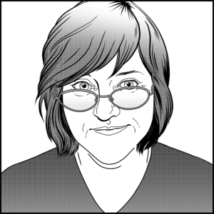 Self-portrait: Karyn Lewis, Freelance Illustrator & Writer
