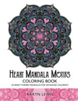 Heart Mandala Motifs Coloring Book