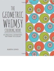 Geometric Whimsy Coloring Book