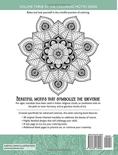 Floral Mandala Motifs Coloring Book