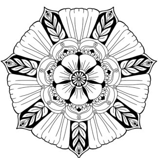 Big Flower Mandala 1 - Free digital download (difficulty: easy)