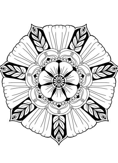 Big Flower Mandala 1 - Free digital download (difficulty: easy)