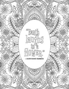 Earth Laughs in a Flower Coloring Page