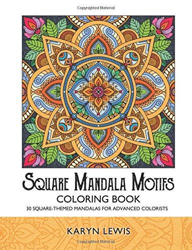 Square Mandala Motifs Coloring Book